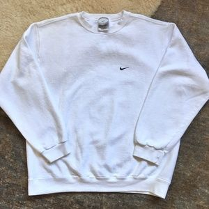 Nike White Crewneck Sweatshirt (L)